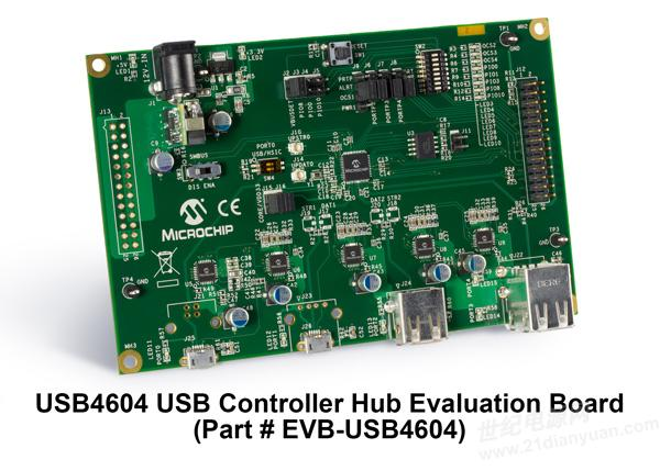 全新microchip usb2.0 4端口控制器集线器采用flex,将