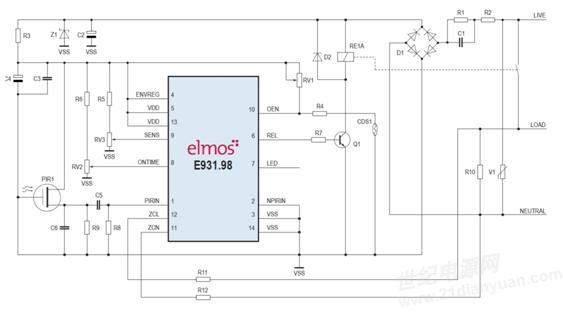 """欲了解更多信息、数据表、应用说明和索取样品及参考设计,请发送主题为""""E931.98 Smart PIR""""的电子邮件至sales_china@elmos.com,欢迎访问公司网站(www.elmos.com)。 关于艾尔默斯半导体 艾尔默斯半导体公司(elmos)成立于1984年,长期致力于研发、生产基于半导体技术的系统解决方案,拥有丰厚的技术资源与设计经验。技术领域涉及混合信号技术、电机控制技术、传感、光电技术领域,可为用户提供量身定制的产品设计服务。产品主要应用于汽车、工业控制"""